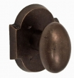 Fusion Hardware <br />06-A3 - Bronze Potato Knob with Bronze Scalloped Rose