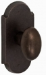 Fusion Hardware <br />06-C7 - Bronze Potato Knob with Bronze Large Scalloped Plate