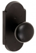 Fusion Hardware <br />07-C7 - Bronze Half Round Knob with Bronze Large Scalloped Plate