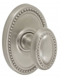 Fusion Hardware <br />10-B7 - Beaded Egg Knob with Oval Beaded Rose
