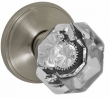 Fusion Hardware <br />16-F2 - Victorian Clear Knob with Cambridge Rose