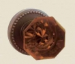 Fusion Hardware <br />17-B6 - Victorian Amber Knob with Beaded Rose