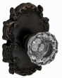 Fusion Hardware <br />19-C8 - Scalloped Clear Knob with Victorian Rose