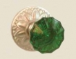 Fusion Hardware <br />20-D8 - Scalloped Green Knob with Floral Rose