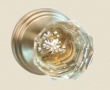 Fusion Hardware <br />21-B1 - Crystal Clear Knob with Stepped Rose
