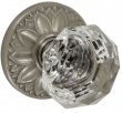 Fusion Hardware <br />21-D8 - Crystal Clear Knob with Floral Rose