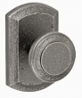Fusion Hardware <br />24-T7 - Chiseled Knob with Blue Ridge Rose