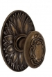 Fusion Hardware <br />34-D9 - Scroll Knob with Oval Floral Rose
