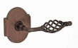 Fusion Hardware <br />AB-E3 - Basket Lever with Beveled Scalloped Rose