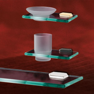 "ALNO GLASS SHELVES<br> Select Finish under  ""Ways to Shop"""