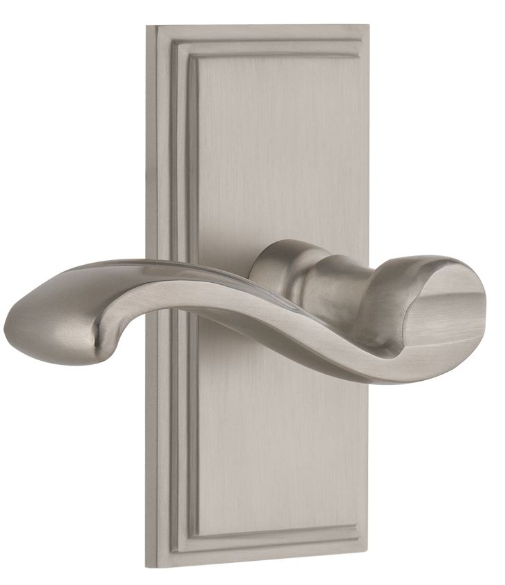 Satin Nickel<br>Carre Knobs & Levers