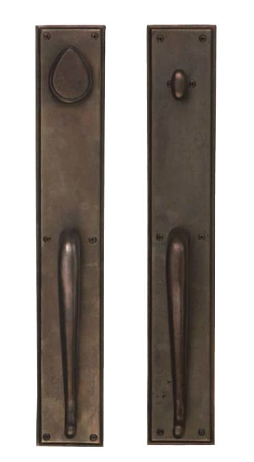 Rectangular Suite Tubular Deadbolt Pull Sets- GRIP X GRIP