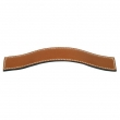 Turnstyle Designs<br />H1877 - Saville Leather, Cabinet D Handle, Slim Case 128mm 5 1/16&quot; CC