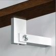 Halliday Baillie <br />HB 570 -  Stair rail bracket, rectangular for rectangular rail, in aluminum.