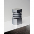 Halliday Baillie <br />HB 710-L -  Tall Round Magnetic Door Stop, Aluminum