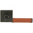 Emtek<br />EMTEK Hercules Brown Leather Lever - Brass Contemporary HERCULES BROWN LEATHER LEVER