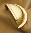 Cliffside - Cabinet<br />K4235-PB - CLIFFSIDE POLISHED BRASS CUP PULL K4235-PB