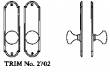 LaForge<br />2702 LF - TRIM NO. 2702 DEADBOLT ESCUTCHEON SET