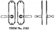 LaForge<br />2703 LF - TRIM NO. 2703 DEADBOLT ESCUTCHEON SET