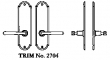 LaForge<br />2704 LF - TRIM NO. 2704 DEADBOLT ESCUTCHEON SET