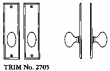 LaForge<br />2705 LF - TRIM NO. 2705 DEADBOLT ESCUTCHEON SET