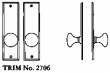 LaForge<br />2706 LF - TRIM NO. 2706 DEADBOLT ESCUTCHEON SET