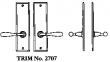 LaForge<br />2707 LF - TRIM NO. 2707 DEADBOLT ESCUTCHEON SET