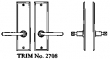 LaForge<br />2708 LF - TRIM NO. 2708 DEADBOLT ESCUTCHEON SET