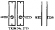 LaForge<br />2715 LF - TRIM NO. 2715 DEADBOLT ESCUTCHEON SET