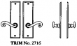 LaForge<br />2716 LF - TRIM NO. 2716 DEADBOLT ESCUTCHEON SET