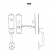 LaForge<br />2809-16 LF - TRIM NO. 2809 MORTISE HANDLE SET - DOUBLE CYLINDER