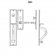 LaForge<br />2831-16 LF - TRIM NO. 2831 MORTISE HANDLE SET - DOUBLE CYLINDER