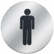 Linnea Stainless Steel<br />SGN-76R1 - Circle Male Door Sign