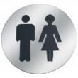 Linnea Stainless Steel<br />SGN-76R3 - Circle Male/Female Door Sign