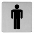 Linnea Stainless Steel<br />SGN-76S1 - Square Male Door Sign
