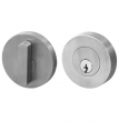 Linnea Stainless Steel<br />Stainless Steel   2.5&quot; Diameter - DB63R-O Round Single Cylinder Deadbolt