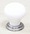 Top Knobs<br />M111 - M111 Small knob  1 1/8&quot; in Antique Pewter &amp; White