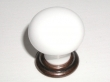 Top Knobs<br />M114 - M114 Small knob  1 1/8&quot; in Old English Copper &amp; White