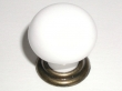 Top Knobs<br />M117 - M117 Small knob  1 1/8&quot; in German Bronze &amp; White
