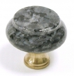Top Knobs<br />M119 - M119 Blue Pearl Granite 1 3/8&quot; with Brass base