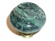Top Knobs<br />M121 - M121 Green Marble 1 3/8&quot; with Brass base