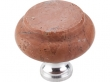 Top Knobs<br />M123C - M123C Top Knobs Honed Red Travertine 1 3/8&quot; with Chrome base
