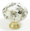 Top Knobs<br />M124 - M124 Luna Pearl Granite 1 3/8&quot; with Brass base