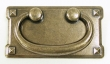 Top Knobs<br />M234 - M234 Mission plate handle 3&quot; CC in German Bronze
