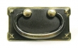 Top Knobs<br />M235 - M235 Mission plate handle 3&quot; CC in Dark Antique Brass