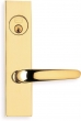 Omnia<br />4762 - Omnia Solid Brass Mortise Lever Lockset- 4762