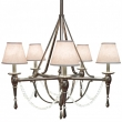 Rocky Mountain Hardware<br />C500 - Five-Arm Towne Chandelier with Crystals and Prisms