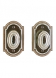 Rocky Mountain Hardware<br />E005/E005 - 3&quot; X 5&quot; ELLIS ESCUTCHEONS - FULL DUMMY