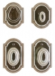 Rocky Mountain Hardware<br />E005/E005/DB002 - 3&quot; X 5&quot; ELLIS ESCUTCHEONS - ENTRY