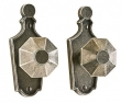 Rocky Mountain Hardware<br />E10010/E10010   (not for 2 1/8&quot; bore)  - 2 1/2&quot; X 6&quot; ESCUTCHEONS- PARIS  PASSAGE SPRING LATCH
